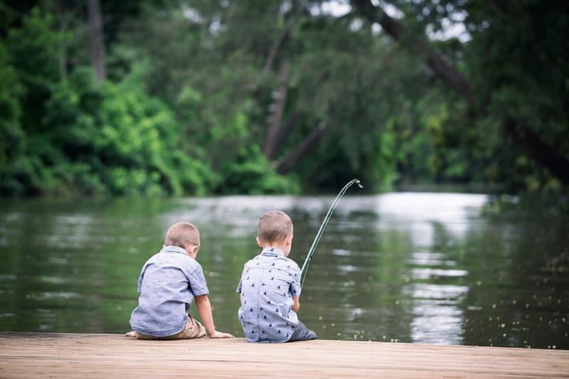 Boys Fishing On The Hawksbury Near Windsor