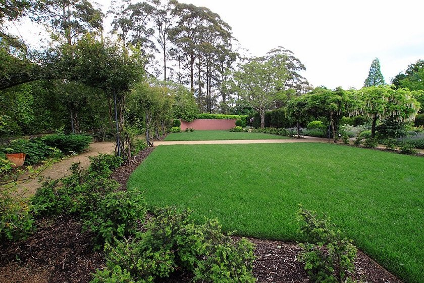 Lush green grass and picnic area at Gordon Falls