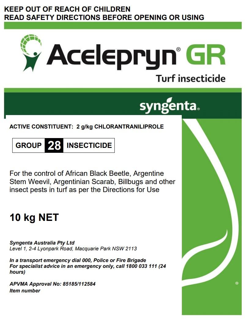 Acelepryn GR Product Label